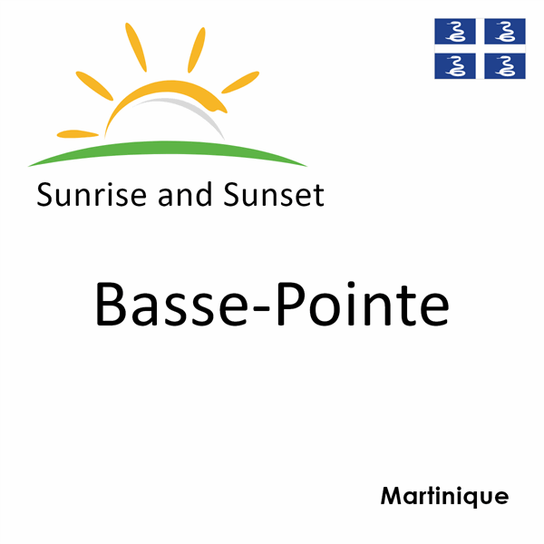 Sunrise and sunset times for Basse-Pointe, Martinique