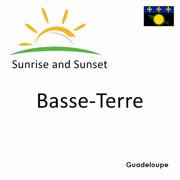 Sunrise and sunset times for Basse-Terre, Guadeloupe