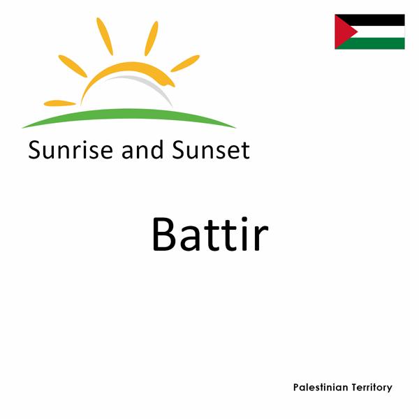 Sunrise and sunset times for Battir, Palestinian Territory