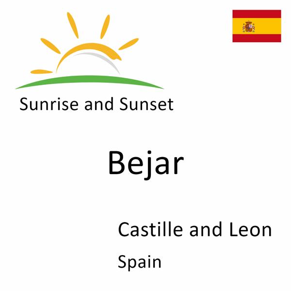 Sunrise and sunset times for Bejar, Castille and Leon, Spain