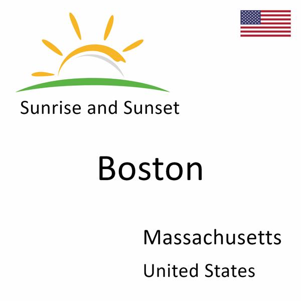 Sunrise and sunset times for Boston, Massachusetts, United States