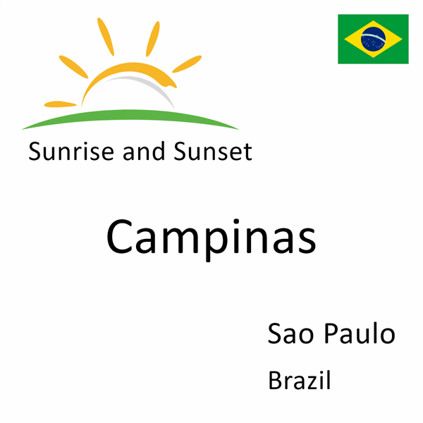 Sunrise and sunset times for Campinas, Sao Paulo, Brazil