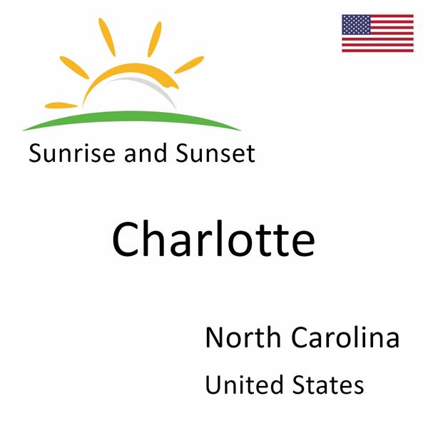 Sunrise and sunset times for Charlotte, North Carolina, United States