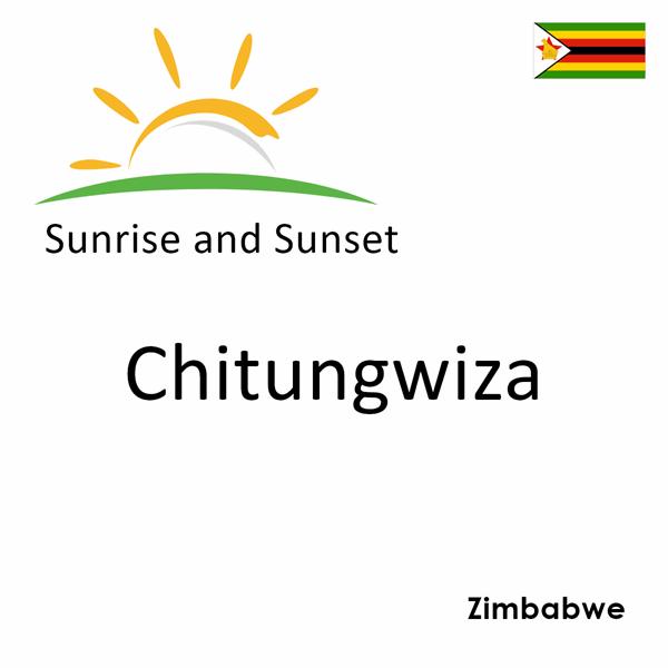 Sunrise and sunset times for Chitungwiza, Zimbabwe