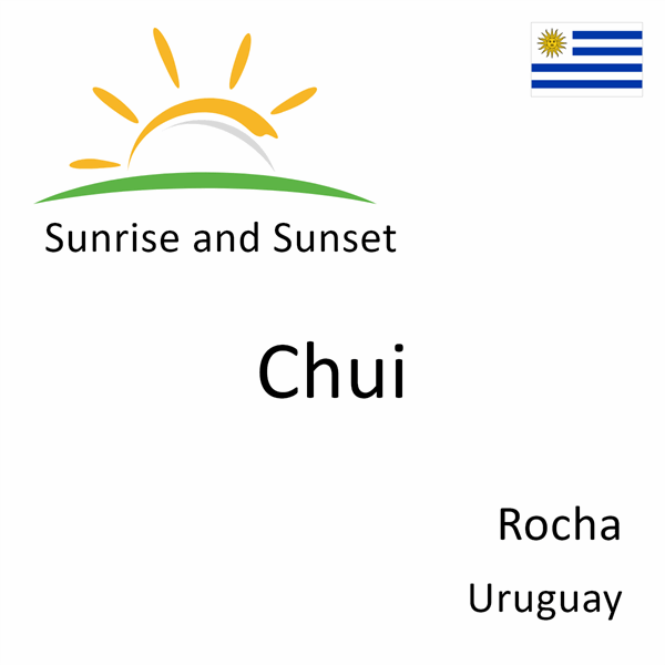 Sunrise and sunset times for Chui, Rocha, Uruguay