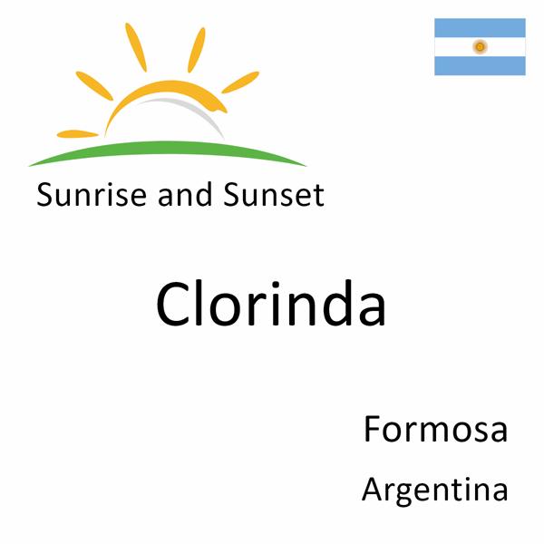 Sunrise and sunset times for Clorinda, Formosa, Argentina