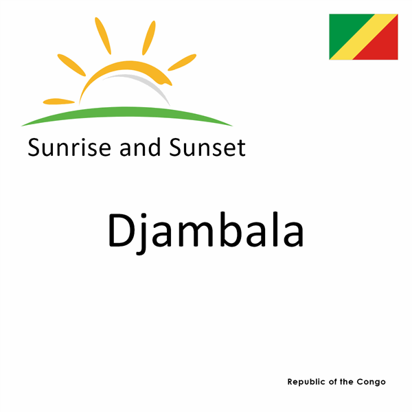 Sunrise and sunset times for Djambala, Republic of the Congo
