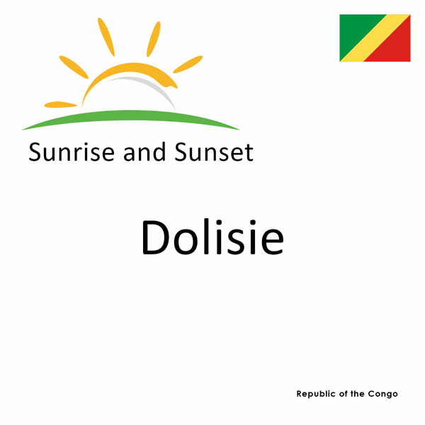 Sunrise and sunset times for Dolisie, Republic of the Congo