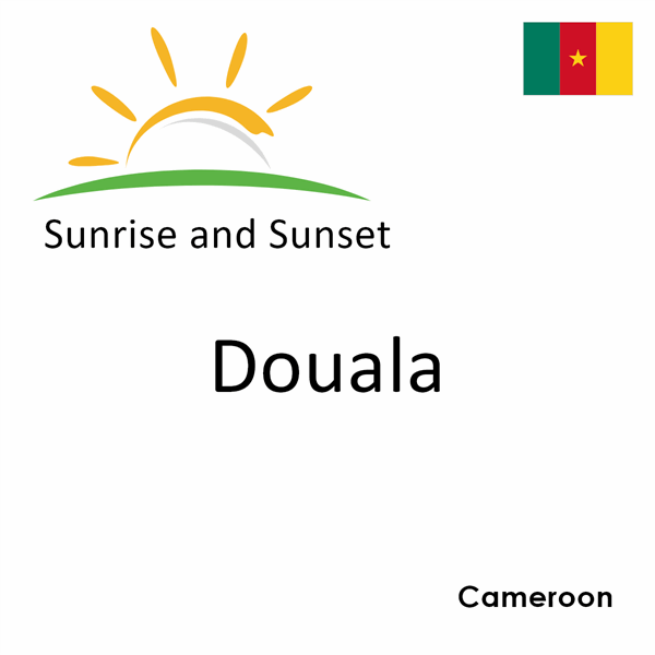 Sunrise and sunset times for Douala, Cameroon