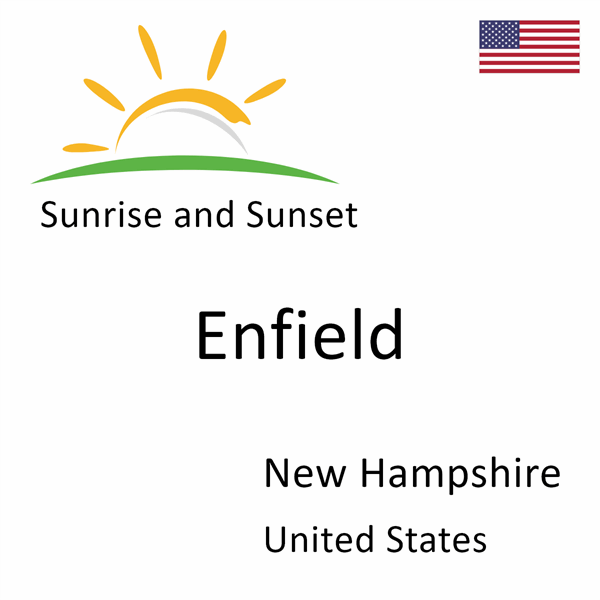 Sunrise and sunset times for Enfield, New Hampshire, United States