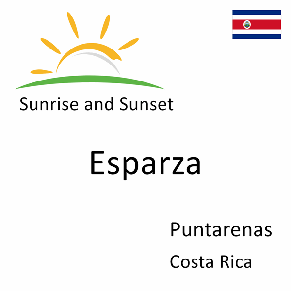 Sunrise and sunset times for Esparza, Puntarenas, Costa Rica