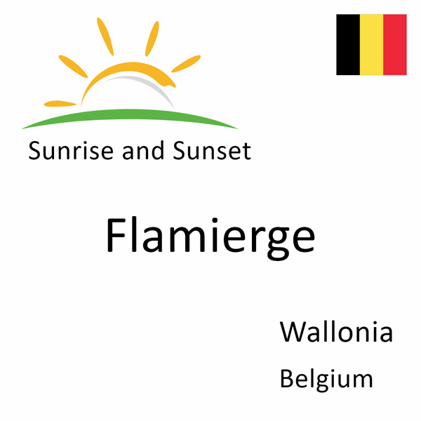 Sunrise and sunset times for Flamierge, Wallonia, Belgium