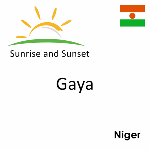 Sunrise and sunset times for Gaya, Niger