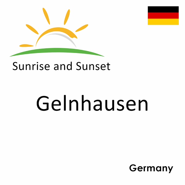 Sunrise and sunset times for Gelnhausen, Germany
