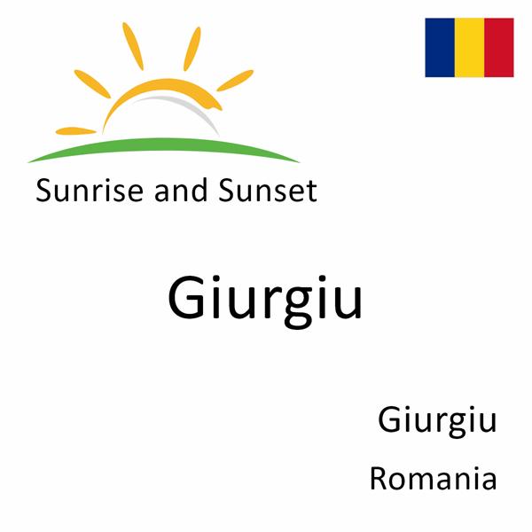 Sunrise and sunset times for Giurgiu, Giurgiu, Romania