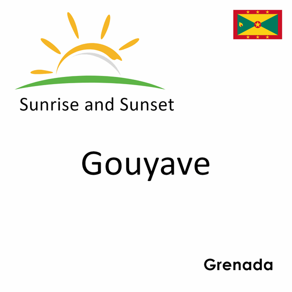 Sunrise and sunset times for Gouyave, Grenada
