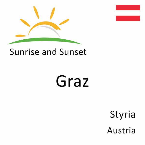 Sunrise and sunset times for Graz, Styria, Austria