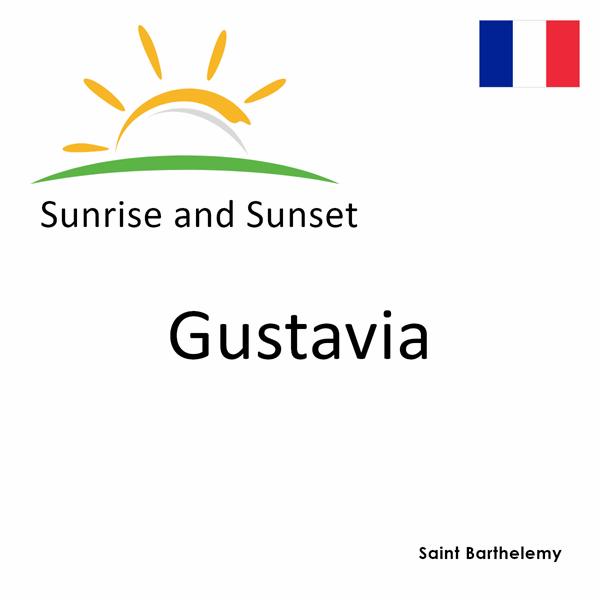 Sunrise and sunset times for Gustavia, Saint Barthelemy