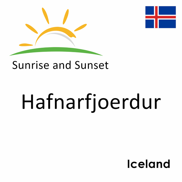 Sunrise and sunset times for Hafnarfjoerdur, Iceland