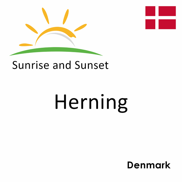 Sunrise and sunset times for Herning, Denmark
