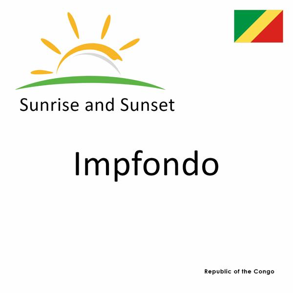 Sunrise and sunset times for Impfondo, Republic of the Congo