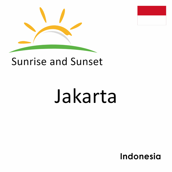 Sunrise and sunset times for Jakarta, Indonesia