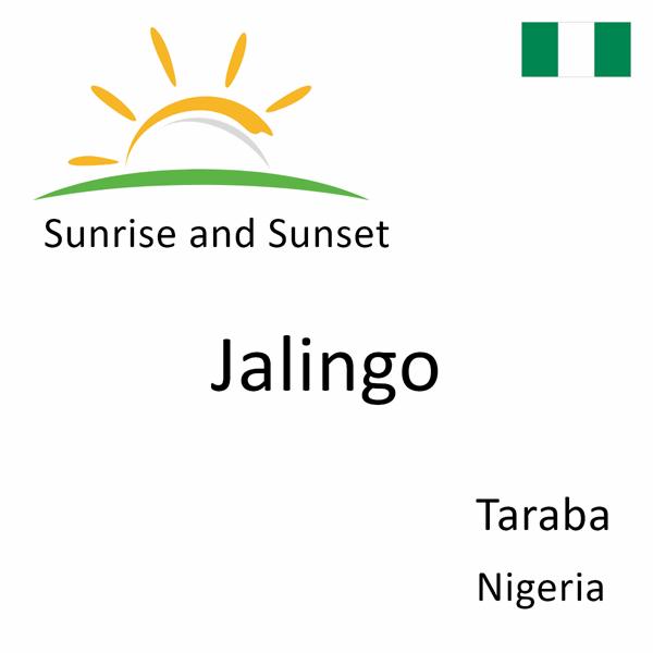 Sunrise and sunset times for Jalingo, Taraba, Nigeria