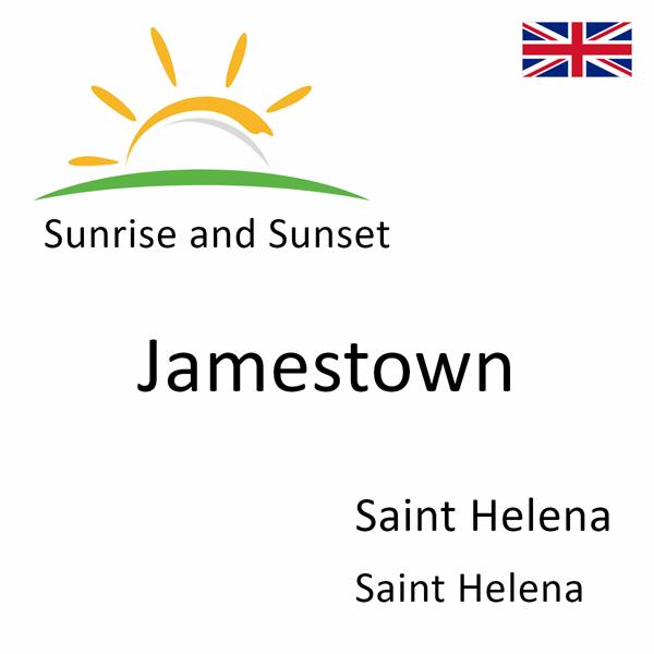 Sunrise and sunset times for Jamestown, Saint Helena, Saint Helena