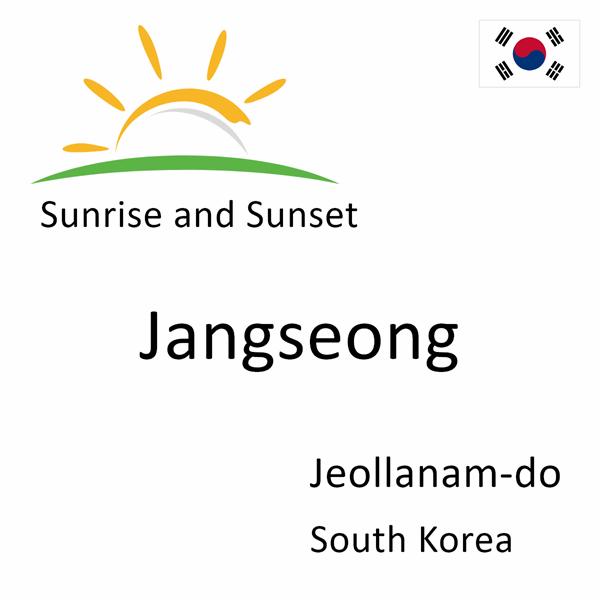 Sunrise and sunset times for Jangseong, Jeollanam-do, South Korea