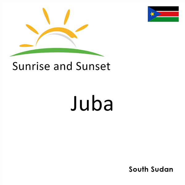 Sunrise and sunset times for Juba, South Sudan