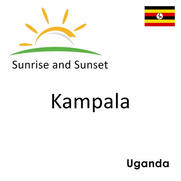 Sunrise and sunset times for Kampala, Uganda