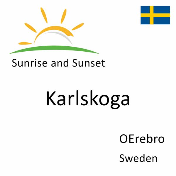Sunrise and sunset times for Karlskoga, OErebro, Sweden