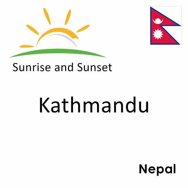 Sunrise and sunset times for Kathmandu, Nepal