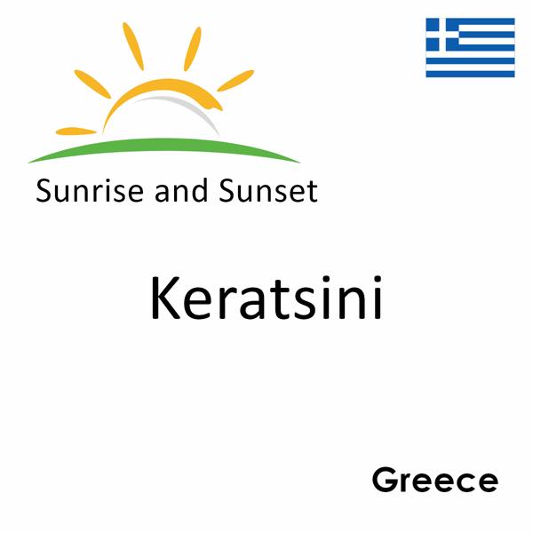 Sunrise and sunset times for Keratsini, Greece