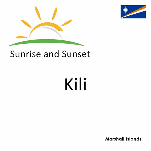Sunrise and sunset times for Kili, Marshall Islands