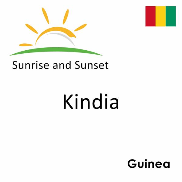Sunrise and sunset times for Kindia, Guinea