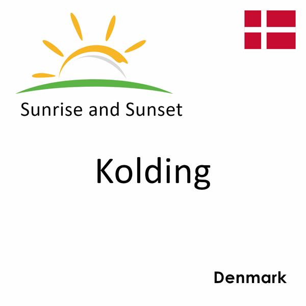 Sunrise and sunset times for Kolding, Denmark