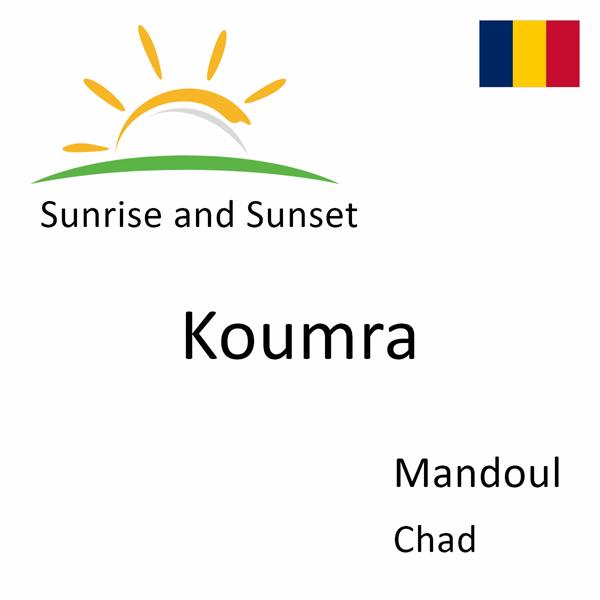 Sunrise and sunset times for Koumra, Mandoul, Chad