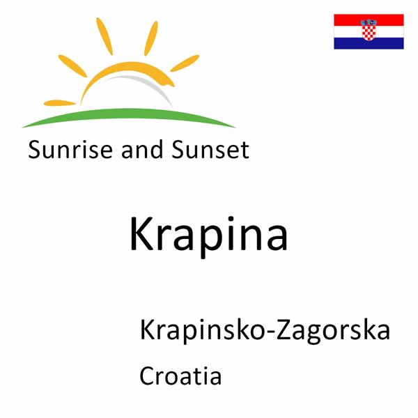 Sunrise and sunset times for Krapina, Krapinsko-Zagorska, Croatia