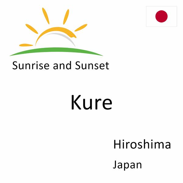 Sunrise and sunset times for Kure, Hiroshima, Japan