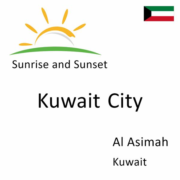 Sunrise and sunset times for Kuwait City, Al Asimah, Kuwait