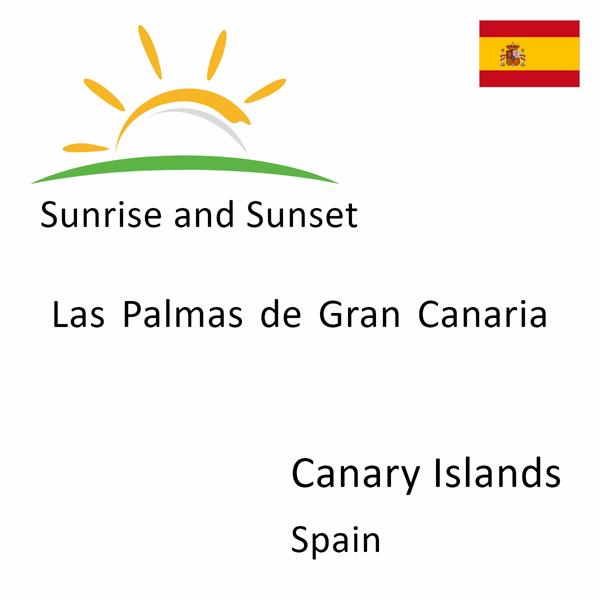 Sunrise and sunset times for Las Palmas de Gran Canaria, Canary Islands, Spain