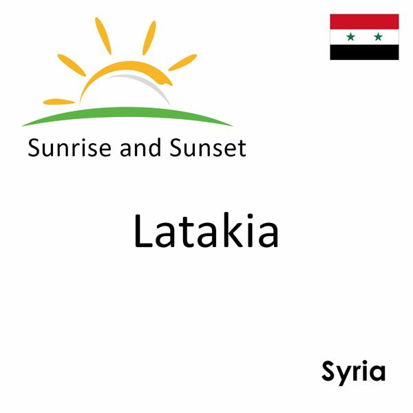 Sunrise and sunset times for Latakia, Syria