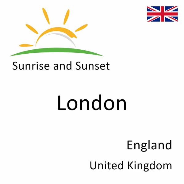 Sunrise and sunset times for London, England, United Kingdom