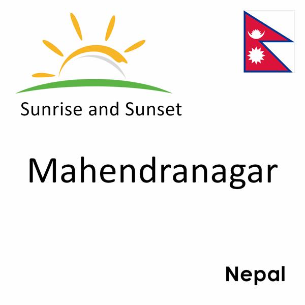 Sunrise and sunset times for Mahendranagar, Nepal