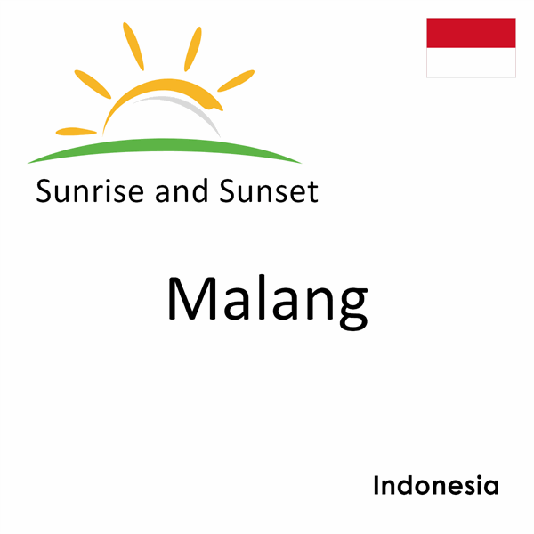Sunrise and sunset times for Malang, Indonesia