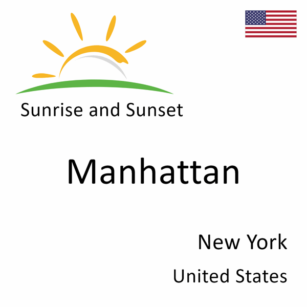 Sunrise and sunset times for Manhattan, New York, United States