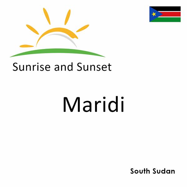 Sunrise and sunset times for Maridi, South Sudan