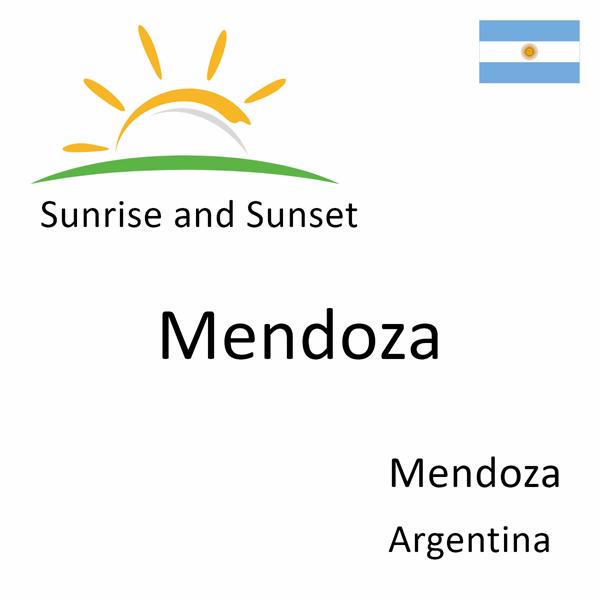 Sunrise and sunset times for Mendoza, Mendoza, Argentina