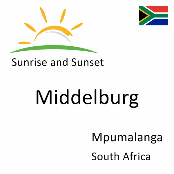 Sunrise and sunset times for Middelburg, Mpumalanga, South Africa